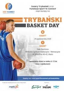 plakat do sportowoego wydarzenia Trybański Basket Day