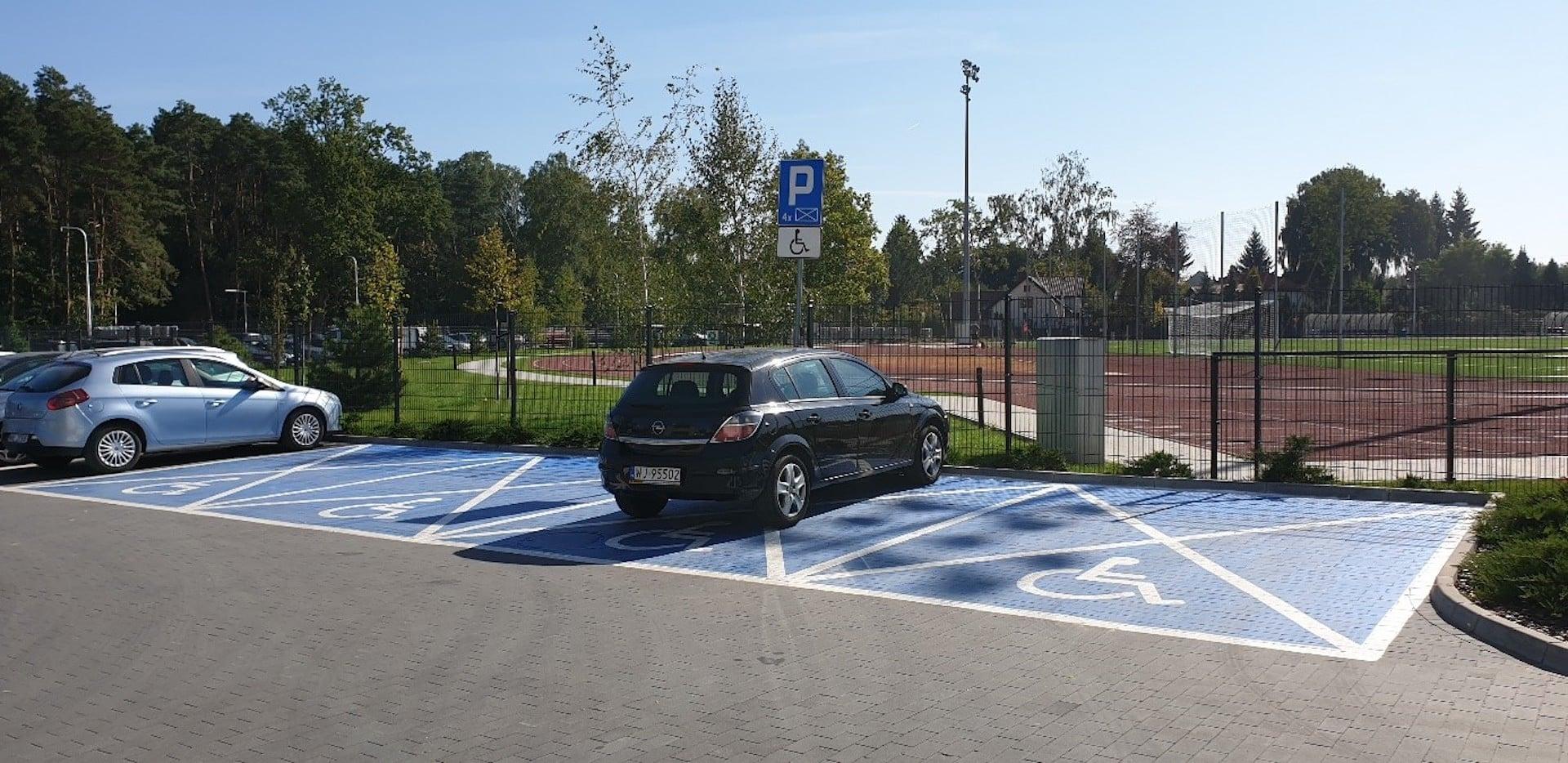 Widok na parking dla OzN